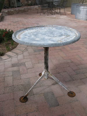 Table from a gunpowder barrel top