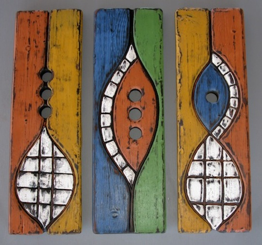 Tribal triptych bee habitats