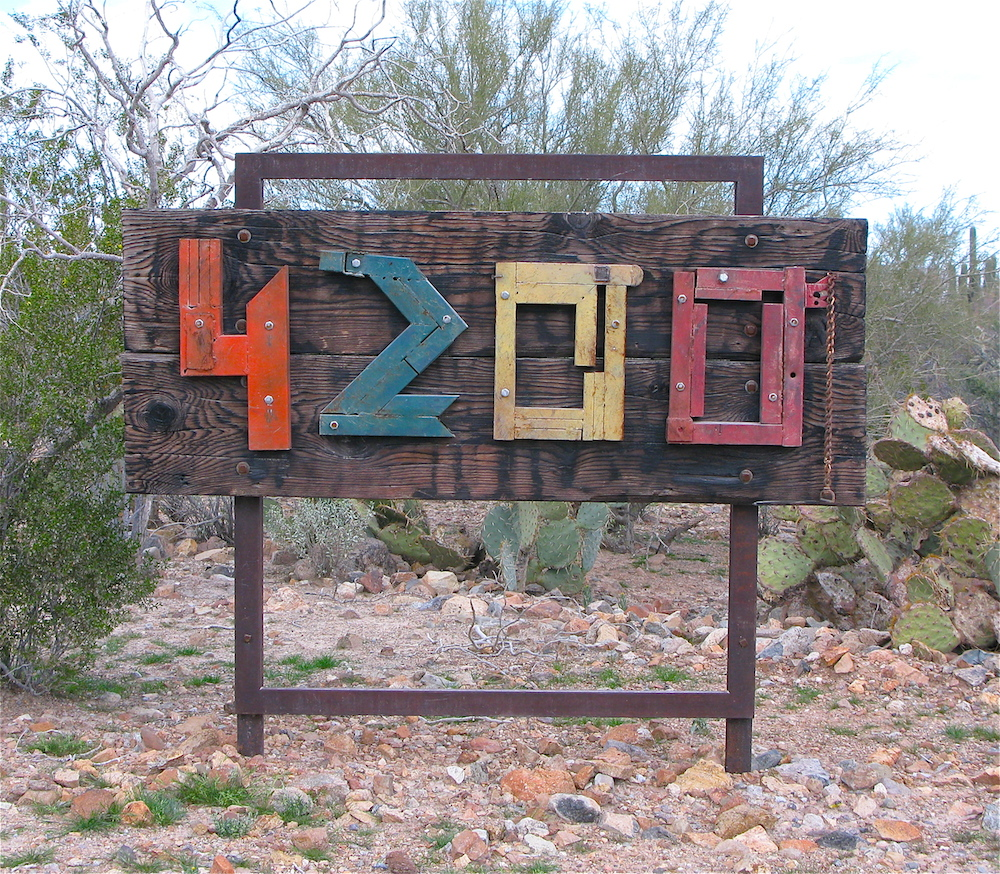 House numbers from scrap steel