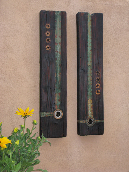 MCM diptych with copper and cholla