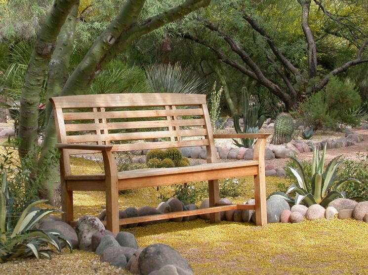Quiet space for observing garden life