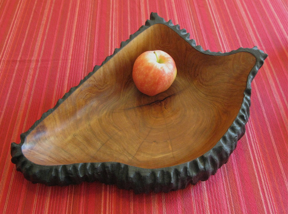 """Wedge"" mesquite bowl"